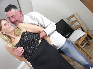 GERMAN HAIRY MILF ANS STOCKINGS FUCKED With an increment of FACIAL BY YOUNGER