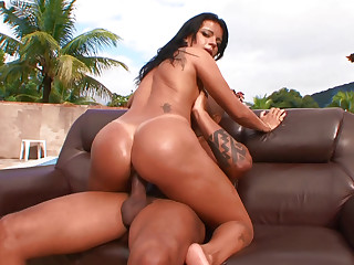 Brazilian Great Ass Gets Fucked On Couch