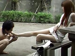 Japanese cheap slave on Street