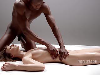 Extreme interracial massage