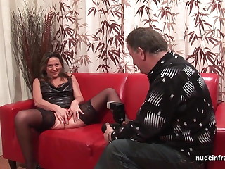 Enduring anal casting couch amateur mom fisted and DP