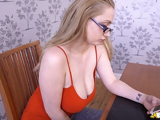 Neglected nerdy slut Rachael C is all just and ready to tittle their way saggers