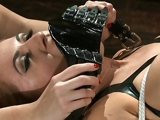 Tied Chick Gets Stimulated - ANALDIN
