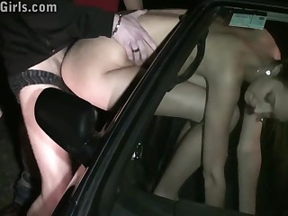 Kitty Jane Kinky Open-air Gangbang