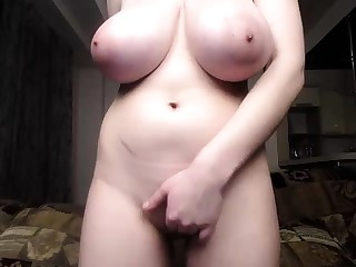 Busty Puma Swede having a solo masturbation up a huge toy