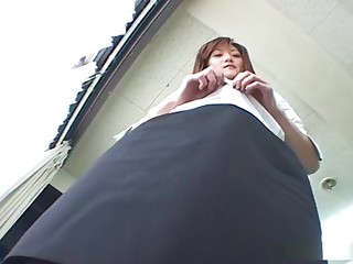 Horny office lady Tsubaki Maya gives a ugly gale job