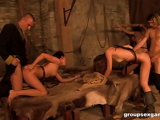 Dungeon orgy with Eufrat and her slutty grown-up friends
