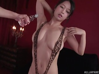 extraordinary Suzuki Satomi gets her pussy pleased by her friend