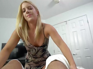 Doctrinaire MILF Candice Dare helps stepson with erection