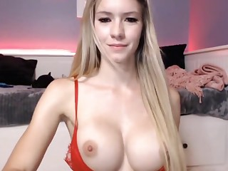 Hot Blonde Brigette Finally Shows Her Perfect DD Tits