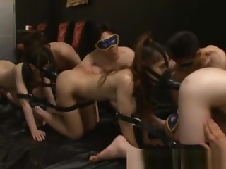 Asian hotties bouncing their pussies out of reach of head gear