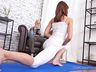 Pulling unsubtle Mina gets fucked by her stepdad after by a long chalk everywhere yoga prizefight