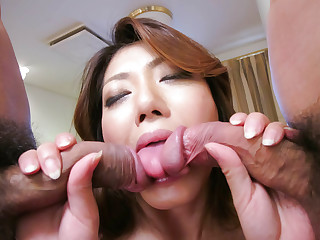 Time for rough triad sex with needy Reina Nishio  - More at javhd.net