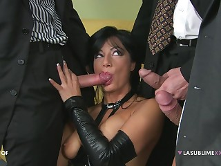 Kinky get hitched Priscilla Salerno enjoys getting double penetrated