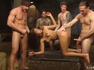 Ebony is double sodomy penetration copulated