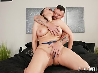 MILF gets dick in both holes with an increment of sperm to cover those d