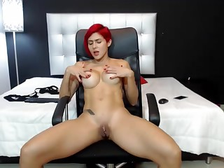 Redhead With Big Boobs Riding Cock Vulnerable The Chair