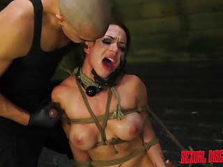 Kylie Soldier of fortune screams from pleasure during the BDSM hardcore game
