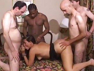 Hardcore Gangbang Action With Amateur Bitch