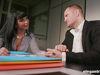 Young brunette Valentina Ricci allows her new big wheel to penetrate anal hole