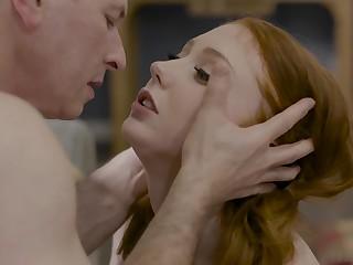 Redhead girlfriend Arietta Adams takes a long detect in her brashness