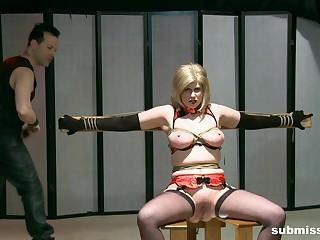 Rough boobs torture session be beneficial to mature slut Jada Sinn. HD video