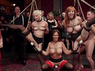 BDSM party with rich folks added to sub sluts Lauren Phillips added to Eliza Jane