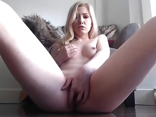 blonde stepsister ID card her wet pussy