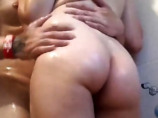 Hot Amateur Couple Shower Fucking