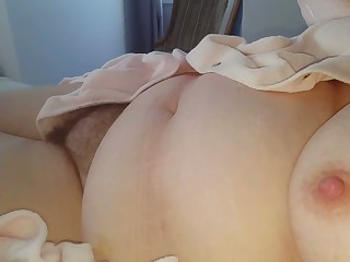My buddy tapes on cam his wife's big boobs increased by hairy meaty cunt