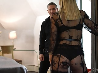Swinger wife Siya Jey gets treated in all directions some hot MMF threesome