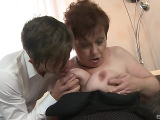Mature spreads for young man connected with fuck her ruthless