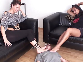 Fetish femdom feet smelling compilation