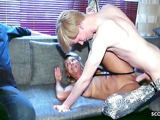Cuckold Watches German Grown up Wife Fuck Uncultured Horseshit Teen Boy