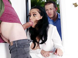 Lustful neighbors fucked constant busty wife